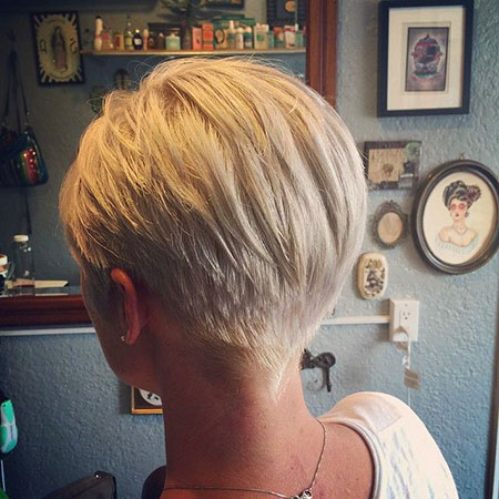 Short Hairstyles, Blonde Bob Hairstyles, Pixie Cut, Warm