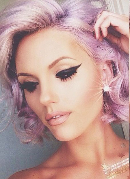 Short Hairstyles, Pink, Instagram, Yellow, Purple, Photo, Eyes