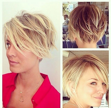 Short Hairstyles, Women, Pixie Cut, Medium, Kaley, Cuoco