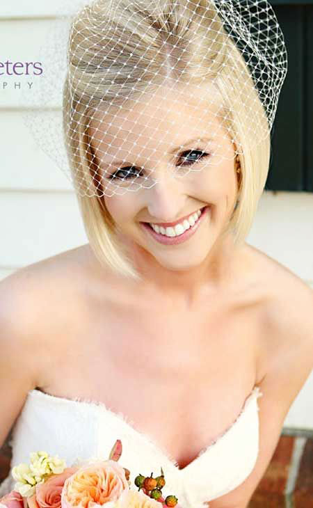 Wedding, Veil, Short Hairstyles, Bridal