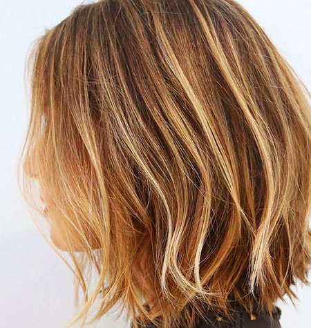 Balayage, Highlights, Brown, Blonde Hairstyles