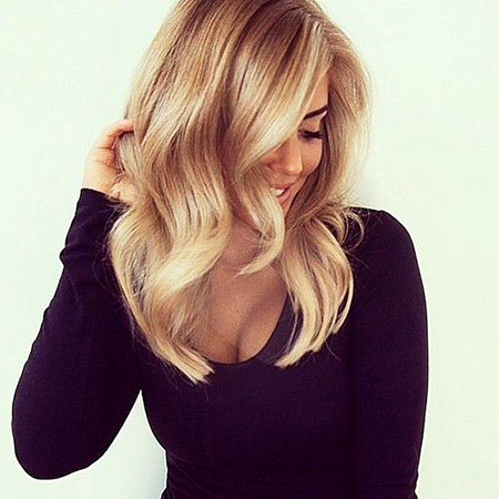 Blonde Hairstyles, Medium, Balayage, Tran, Straight Hairstyles