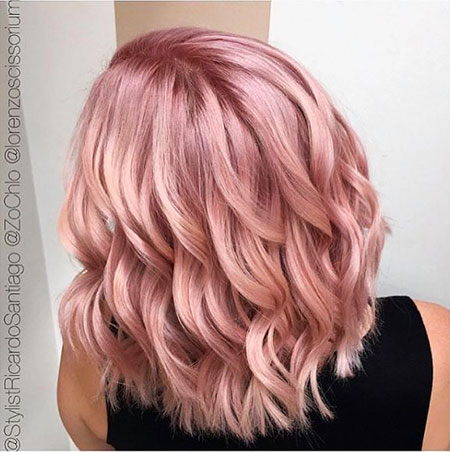 35 Short Rose Gold Blonde Hairstyles 2017 2018 Blonde Hairstyles 2020