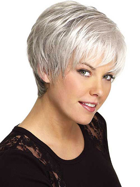 Short Hairstyles, Women, Wigs, Wig, Up, Synthetic, Over, Older