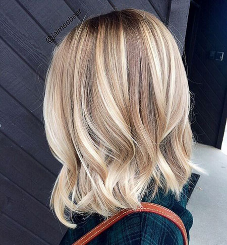 Blonde, Length, Balayage, Women, Shoulder, Short, Medium