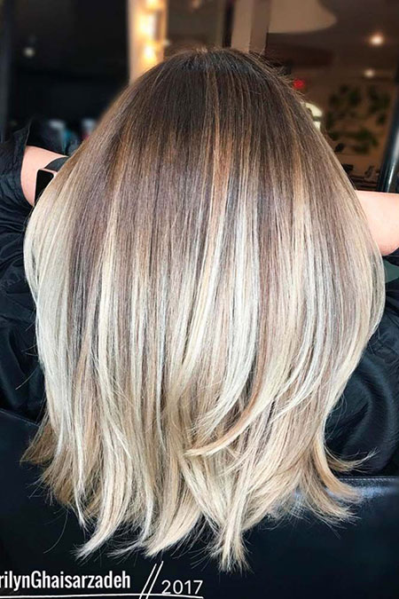 Blonde, Ombre, Balayage, Season, Medium, Highlights, Colors, Bob