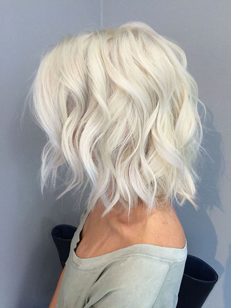 Blonde, Wavy, Short, Platinum, Light, Bobs, Ash