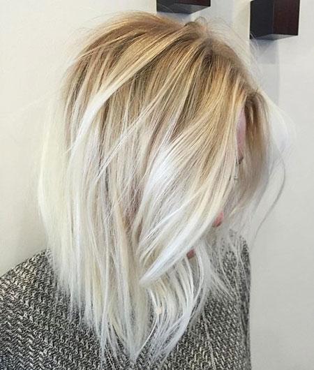 Blonde, Balayage, Light, Bob, Type, Straight, Shoulder