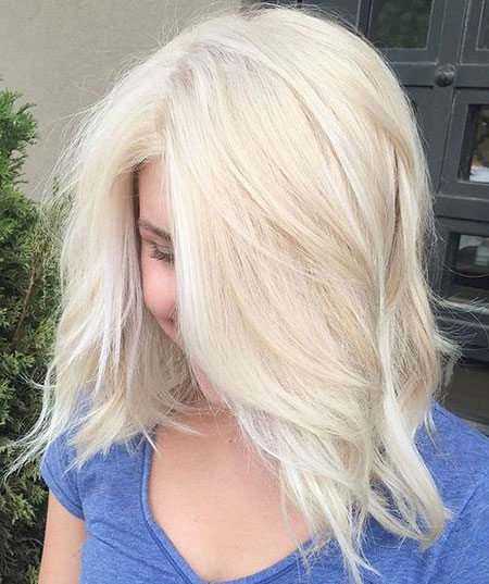 Blonde, Platinum, Layered, Soft, Season, One, Lob, Light, Length