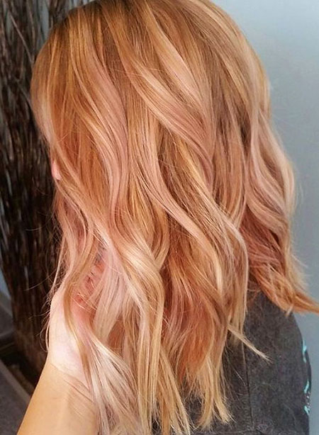 Gold, Rose, Blonde, Ombre, Strawberry