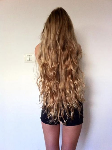 Long Curly Waterfall Purple Pretty Ombre Length Goals