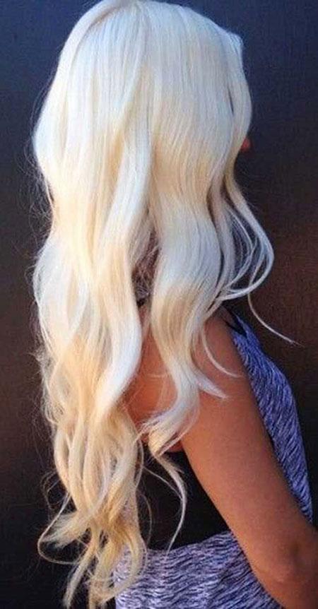 Blonde Platinum Long Balayage Ash 205 204