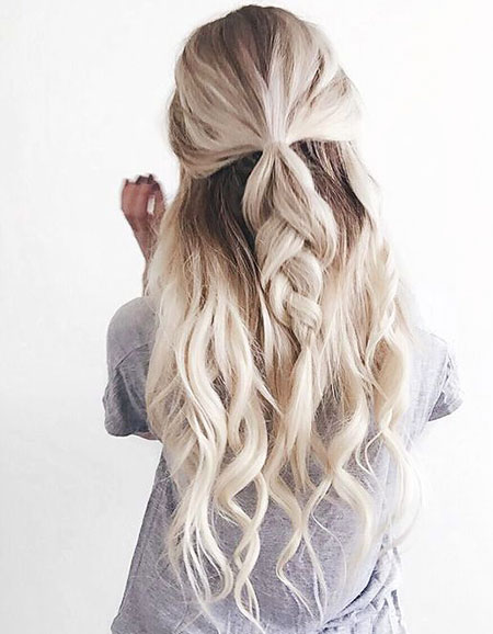 Long Updo Twisted Summer Spring Half Cute