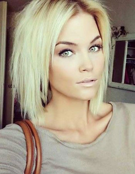 Short Hairstyles, Women, Blonde Bob Hairstyles, Straight Hairstyles, Medium