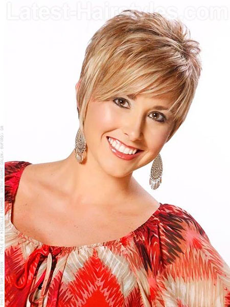 Short Hairstyles, Women, Older, 2017, Wig, Round, Face