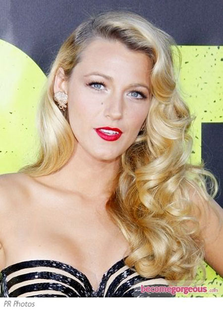 Hollywood, Curls, Blake, Vintage, Retro, Living, Lively