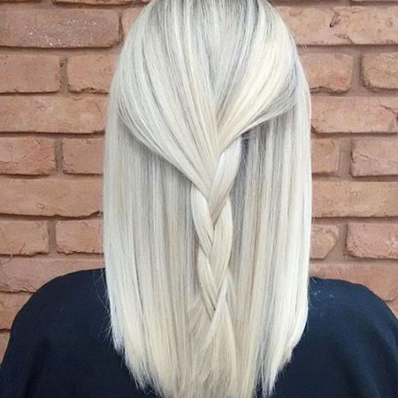 Blonde, White, Platinum, Streaks, Highlights, Balayage