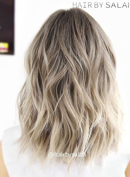 Blonde, Bob, Balayage, Light, Ash, Type, Tran, Thick