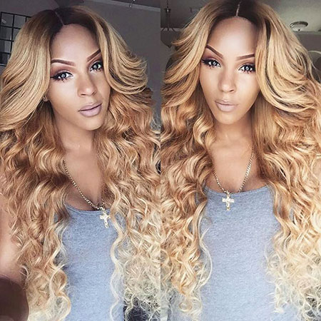 Blonde Wave Ombre Long Curls Body
