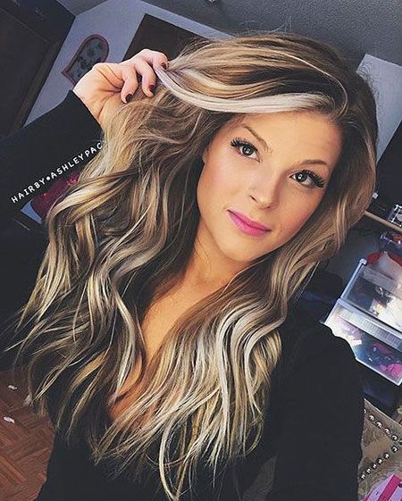 Blonde Balayage Long Colors Waves Up Some Highlights