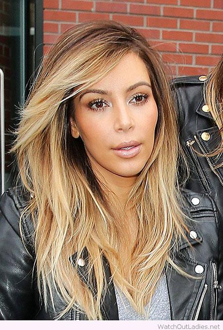 Kardashian Kim Blonde Khloe Long Layers Cute