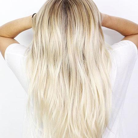 Blonde Highlights Balayage Platinum Long Icy