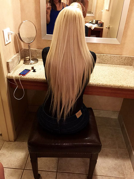 Blonde Highlights Pretty Ombre Longer Long