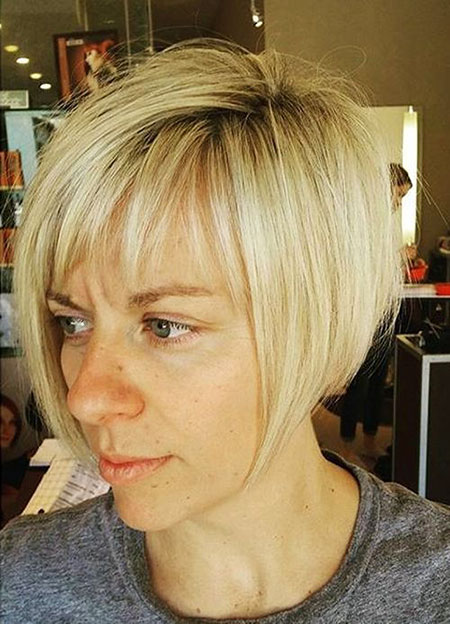 Short Hairstyles, Fringe, Blonde Hairstyles