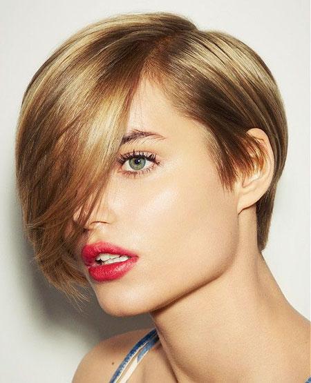 Short Hairstyles, Blonde Bob Hairstyles, Women, Spiky, Sleek, Round