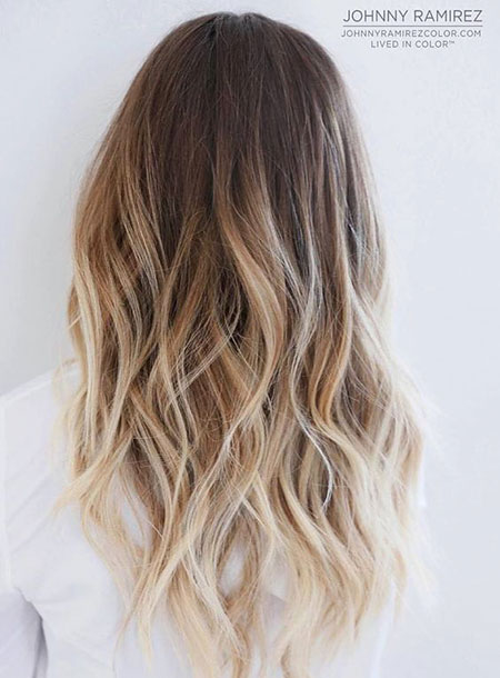 Ombre Blonde Balayage Brown Red Long Line Down Dark