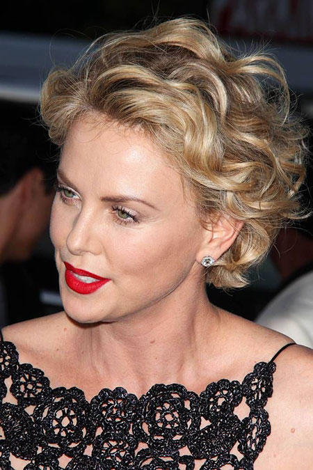 Short Hairstyles, Wavy, Theron, Charlize, Blonde Hairstyles