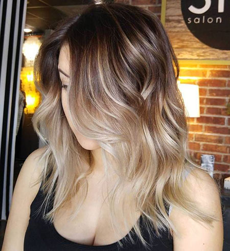 Blonde, Balayage, Ombre, Waves, Soft, Season, Medium, Light