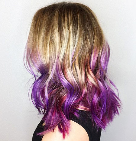 Purple, Ombre, Blonde, Honey, without, Tips, Really, Lavender