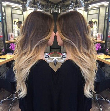 Blonde Ombre Brown Balayage Wavy Trendy Season Easy All