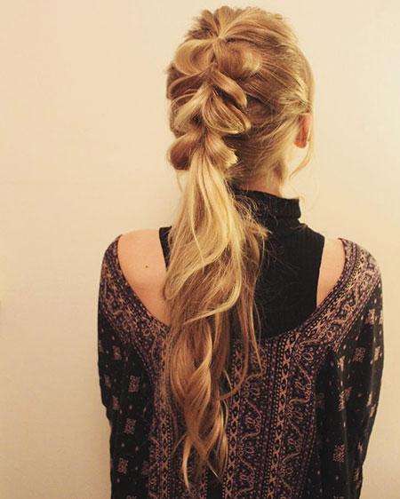 Braid, Ponytail, Easy, Long, Girls, Fishtail, Cute, Buns, Braids, Blonde