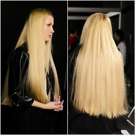 Blonde Long World Woman Tips Silky Around