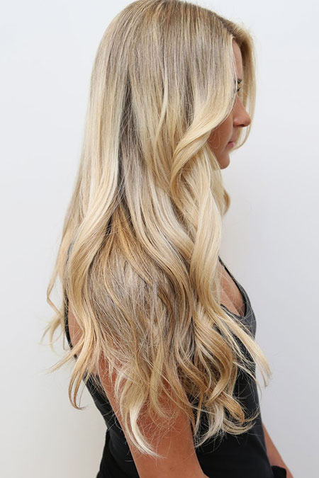 Blonde Balayage Sandy Ombre Highlights Beachy