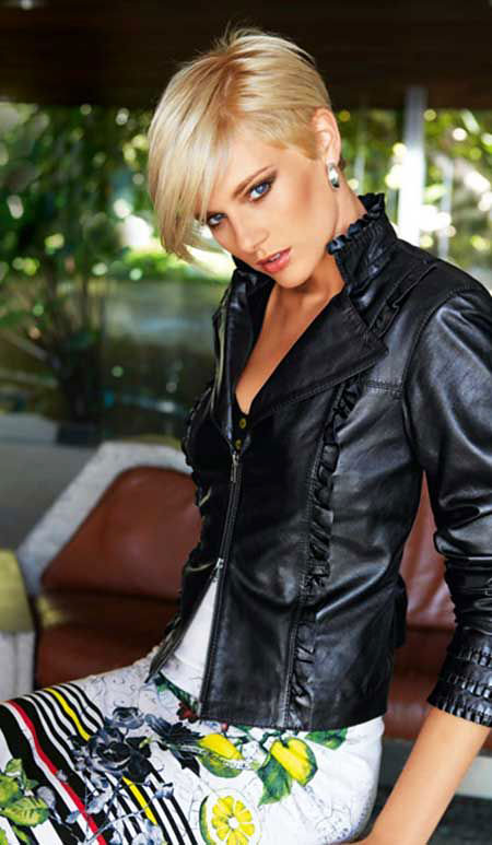 Short Hairstyles, Leather, Women, Prom, Pixie Cut, Over, Older