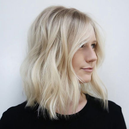Blonde, Thin, Medium, Length, Bob, Waves, Short, Platinum, Long