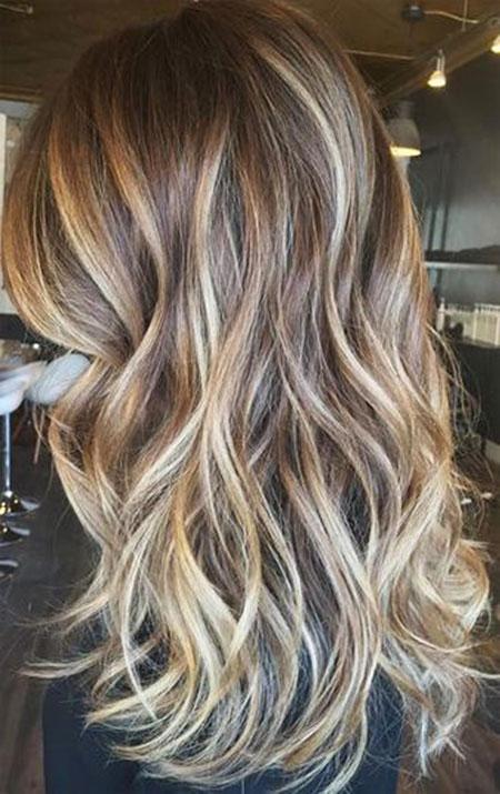 Brunette With Blonde Highlight