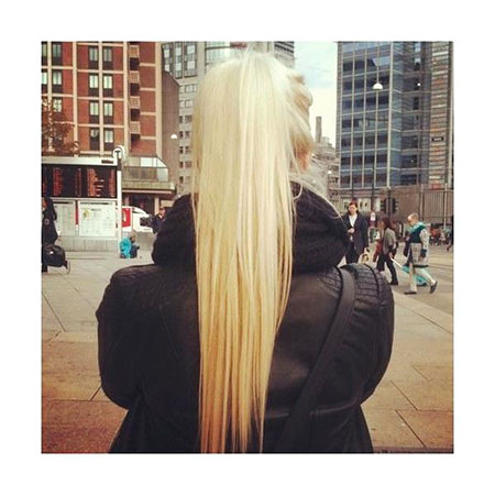 Blonde, Long, Ponytail, Highlights, Girl