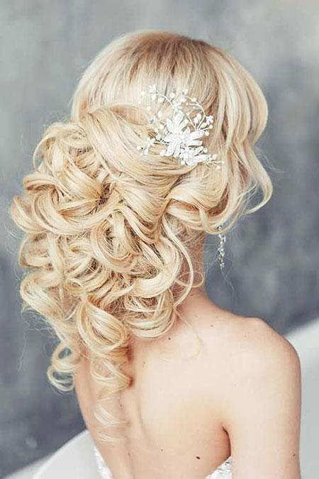 Wedding, Long, Updo, Part, One, Bride, Bridal