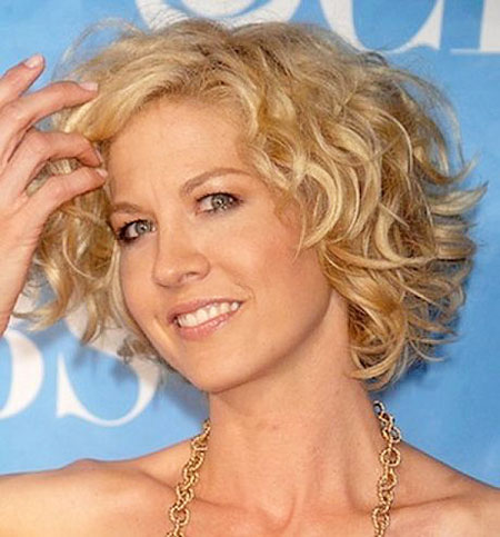 Short Hairstyles, Curly, Women, Very, Round