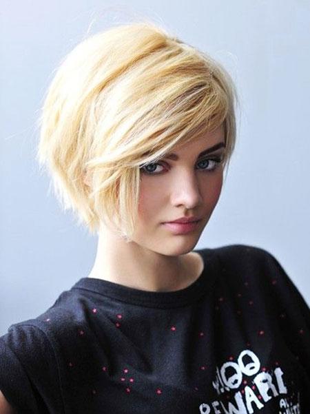 Short Hairstyles, Blonde Bob Hairstyles, Women, Wavy, Twist