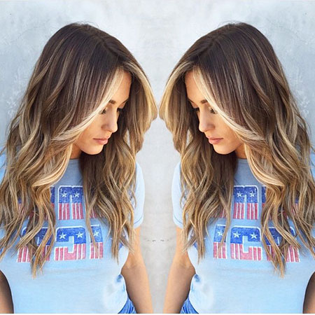 Balayage Ombre Blonde Long Highlights Celebrity