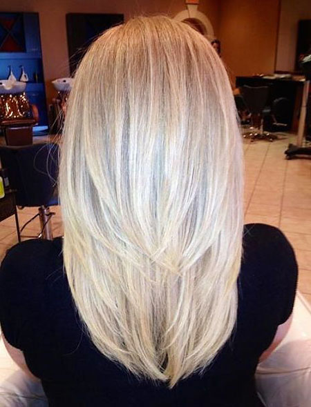 Blonde Medium Length Layers Tapered Long Highlights Flattering