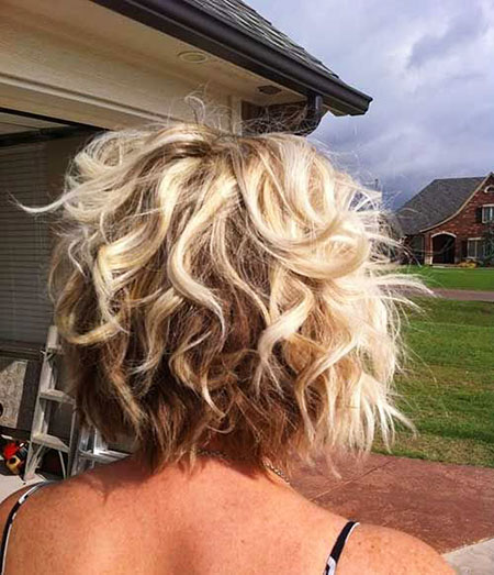 Short Hairstyles, Curly, Blonde Bob Hairstyles, Women, Wedding