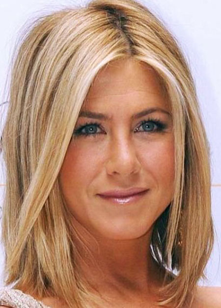 Jennifer, Aniston, Medium, Length, Bob, Updo, Shoulder, Long