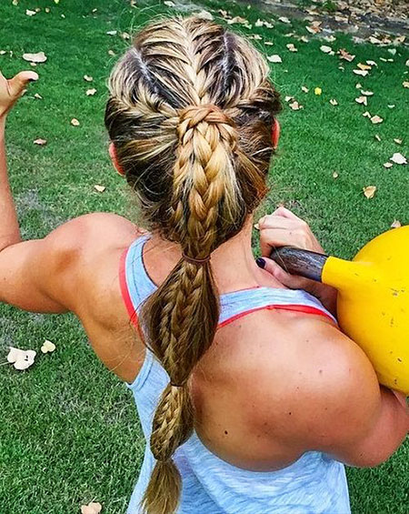 Braids, Braided, French, Woman, Trenza, Ponytail, One, Long