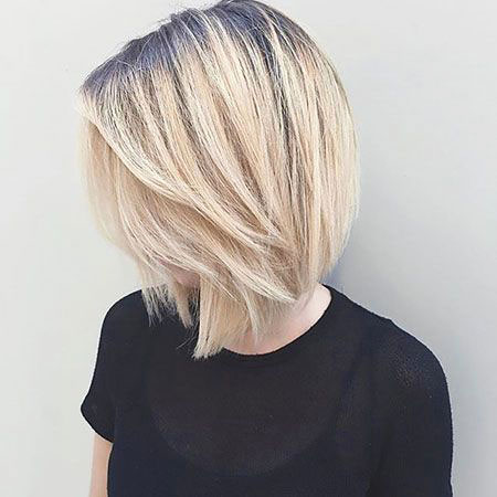 Blonde Bob Hairstyles, Blonde Hairstyles, Thin, Pixie Cut, Lob, Layered